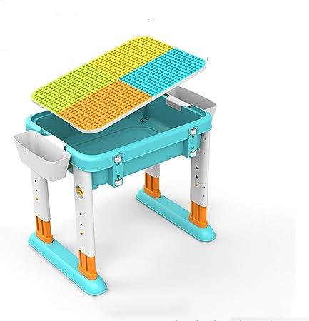 KOUPA Juego de Mesa de Actividades para niños: Mesa de Agua 3 en 1, Mesa de Manualidades y Mesa de ladrillo para construcción con Almacenamiento Incluye 2 sillas para niños pequeños: Amazon.es: Hogar