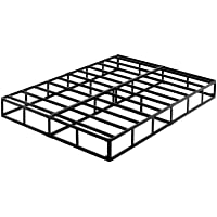 ZIYOO 9 Inch High Profile Box Spring/Easy Assembly Mattress Foundation/Heavy Duty Metal Steel Slat/Integrated Structure/Quiet Noise-Free