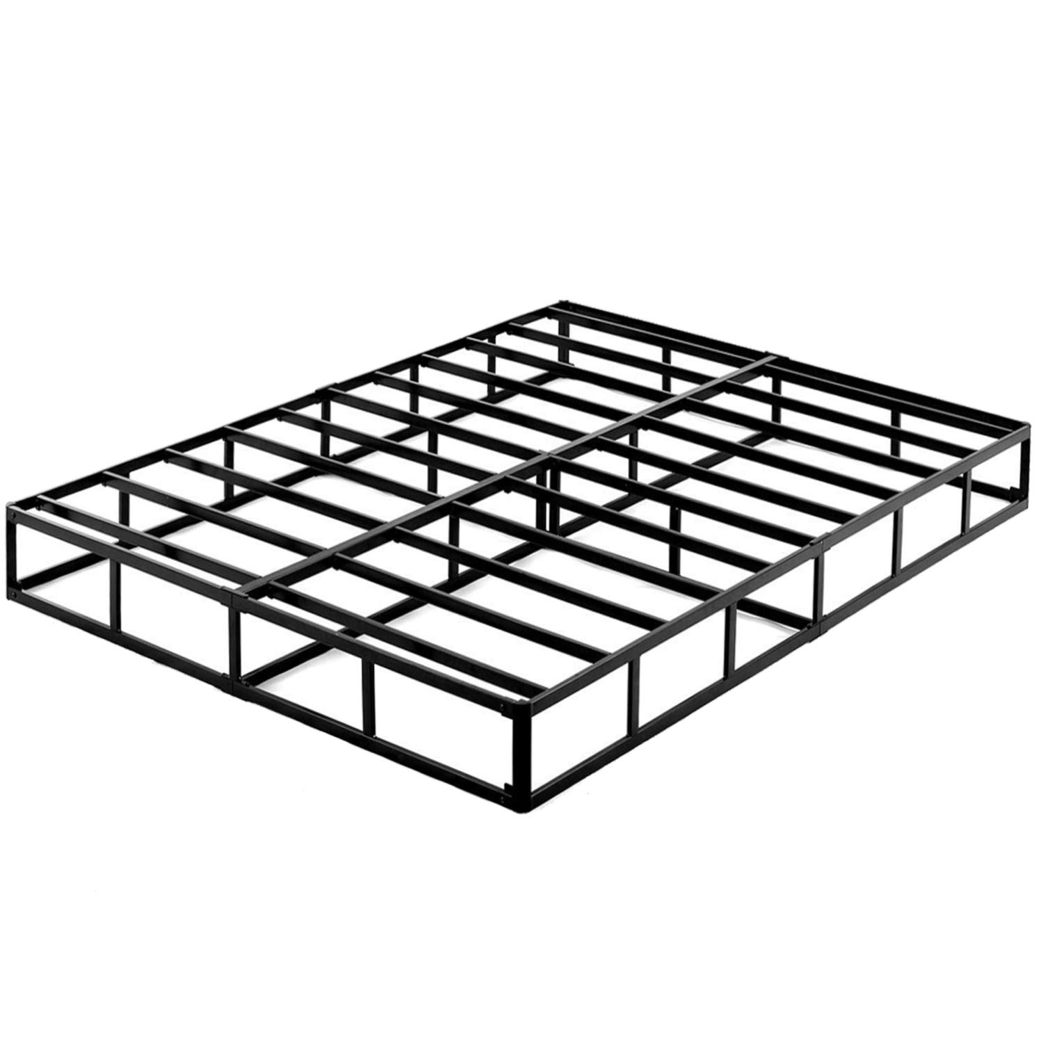 ZIYOO 9 Inch High Profile Box Spring/Easy Assembly Mattress Foundation/Heavy Duty Metal Steel Slat/Integrated Structure/Quiet Noise-Free/King by ZIYOO
