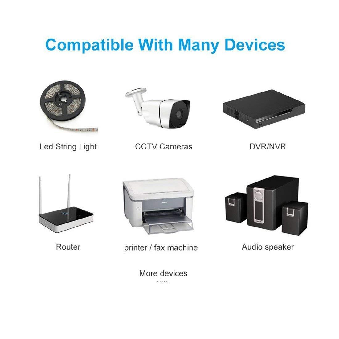 Liwinting 2pcs DC 1 Femelle /à 2 M/âle 2.1x5.5mm DC Adaptateur Secteur Splitter C/âble 2 Femelle Connecteur DC pour CCTV Cam/éra Moniteur LED Bande et Autres DC 12V Devices