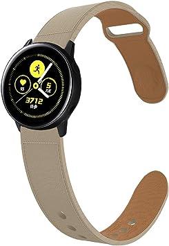 KTcos Compatible con Samsung Galaxy Watch 42mm/Active Correa Cuero ...