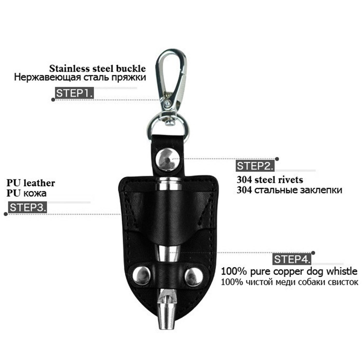 Kangkang Pet Dog Training Whistle Ultrasonic Sound Circuit Obedience 120khz Eagles Doves With Pu Leather Case Products