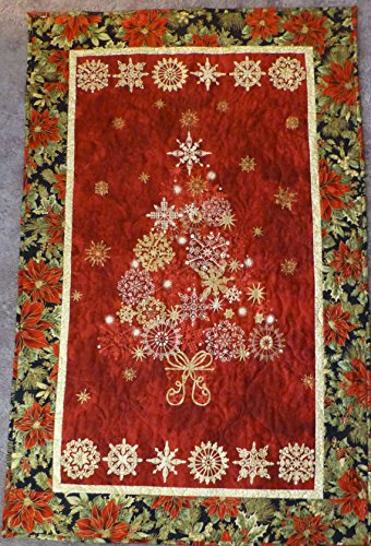 Christmas Wall Hanging, Quilted, Elegant Decorated Wall Hanging , Christmas Tree