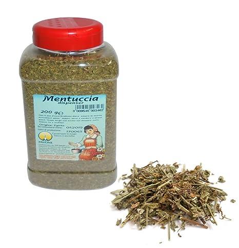 Gr 200 mentuccia tritata (dispensador para insaporire salsas zuppe Carni y verduras