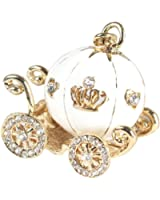 Clearance!Key Chain,Canserin Cute Pumpkin Carriage Crystal Key Ring (white)