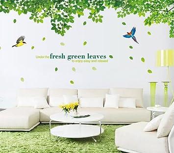 YueLian Sofa Hintergrund Dekorative Aufkleber Grün Blätter ...
