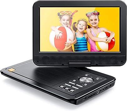 """APEMAN 12.5"""" Reproductor de DVD Portátil para el Coche 10.5""""Reproductor DVD con Pantalla Giratoria Soporta Tarjeta SD/USB/CD/DVD Batería Recargable con Mando a Distancia: Amazon.es: Electrónica"""