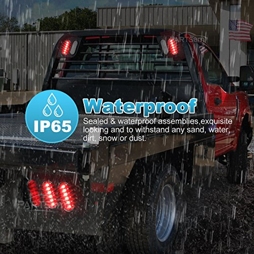 partsam-2pcs-trailer-truck-boat-bus-red-led-6-inch-oval-stop-turn-tail-brake-light-dot-certified-marker-lights-sealed-surface-mount-12v-waterproof-for-rv-jeep-trucks