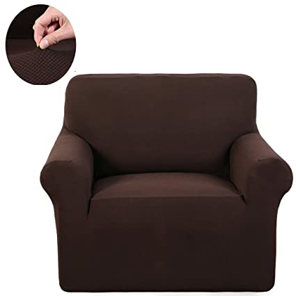 Slipcover 1 Piece Stretch Fabric Furniture Protector Cover For Sofa  Loveseat And Chair (Chair