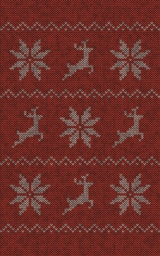 Knitted Effect Christmas Notebook