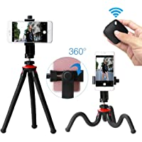 Ulanzi Phone Flexible Tripod With Bluetooth Shutter Remote Portrait Landscape Mount Adapter Livestream Video For Iphone X 8 7 Samsung Xiaomi Huawei DSLR Camera Gopro