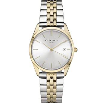 Reloj ROSEFIELD ACSGD-A01 The Ace Plata Sunray- Plata Oro Duo/ 38mm: Amazon.es: Relojes