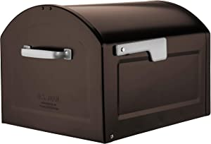 Architectural Mailboxes 950020RZ Centennial Post Mount Mailbox, XL, Rubbed Bronze