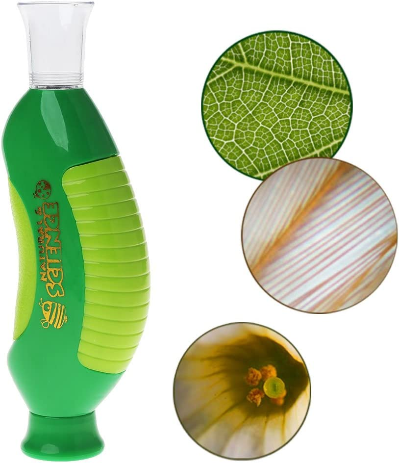 siwetg Biologisches Mikroskop Handmikroskop 80X Home School Lernspielzeug F/ür Kinder