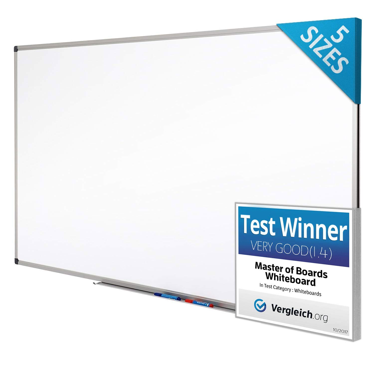 be5b3bca8c Magnetic Whiteboard | Dry Erase Board | # 1 White Board in Europe |  Excellent for Office and Home - 90x60cm: Amazon.co.uk: Office Products