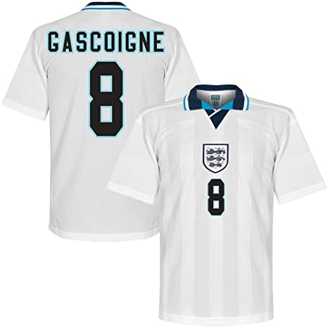 1996 Inglaterra Casa Retro camiseta impresión incl. Gascoigne 8 (estilo  Retro) 85a7ab5379ce1