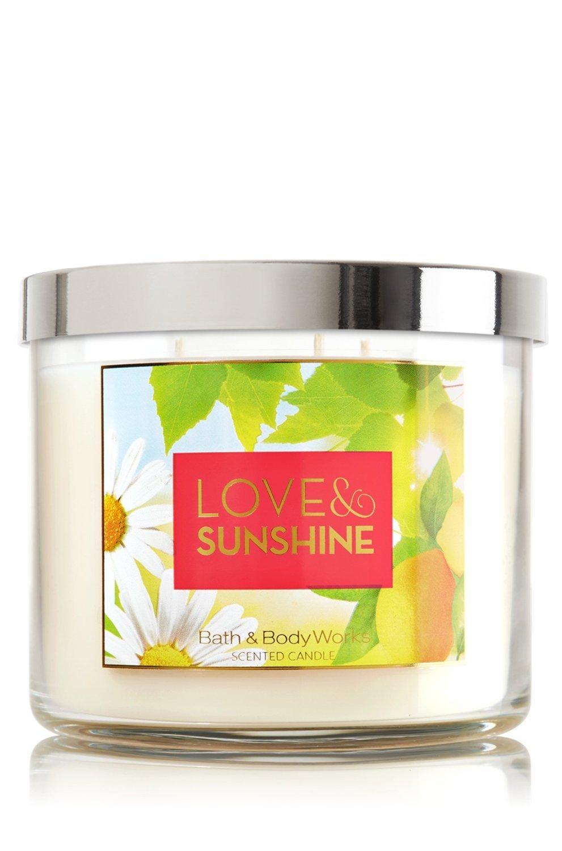 LOVE & SUNSHINE 3-Wick Candle 14.5 oz / 411 g