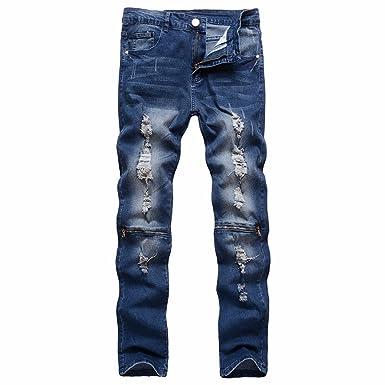 e7d283767b0 DreamedU Men Shorts Tall Stretchy Ripped Skinny Biker Jeans Destroyed Taped  Slim Fit Denim Cargo Pants