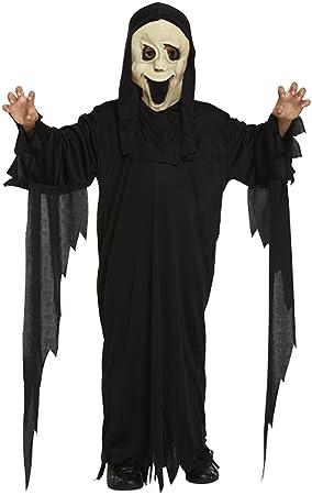 boys girls scream robe and mask halloween costume age 4 12 7 9