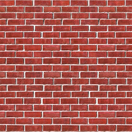 [Brick Wall Backdrop Party Accessory (1 count) (1/Pkg)] (High Quality Costumes For Sale)