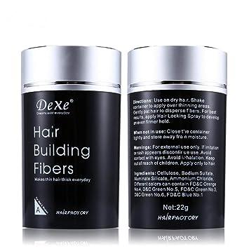 Amazon.com: Dexe fibras de construcción de cabello, Miyshow ...