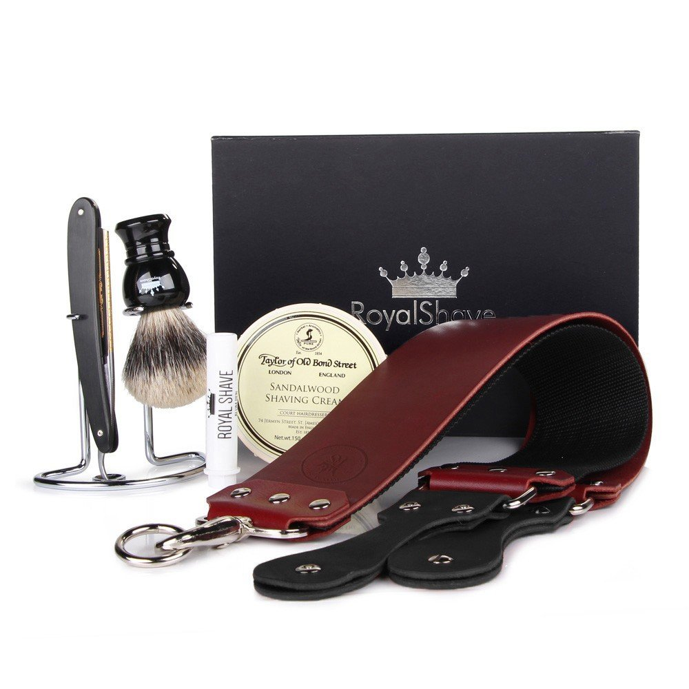 Dovo Prima Full Hollow 5/8'' Straight Razor Shaving Set - Complete Shave Set for Men!