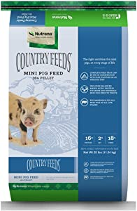 Nutrena Country Feeds Mini Pig Feed 25 Pounds 16% Protein