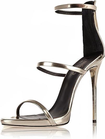black heel strappy sandals
