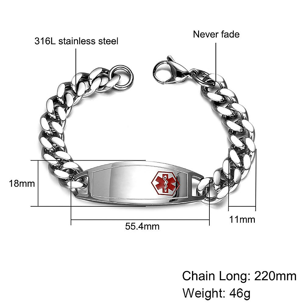 Free Personal Engraving White 4mm Braided Leather Bracelet Stainless 3 Charms