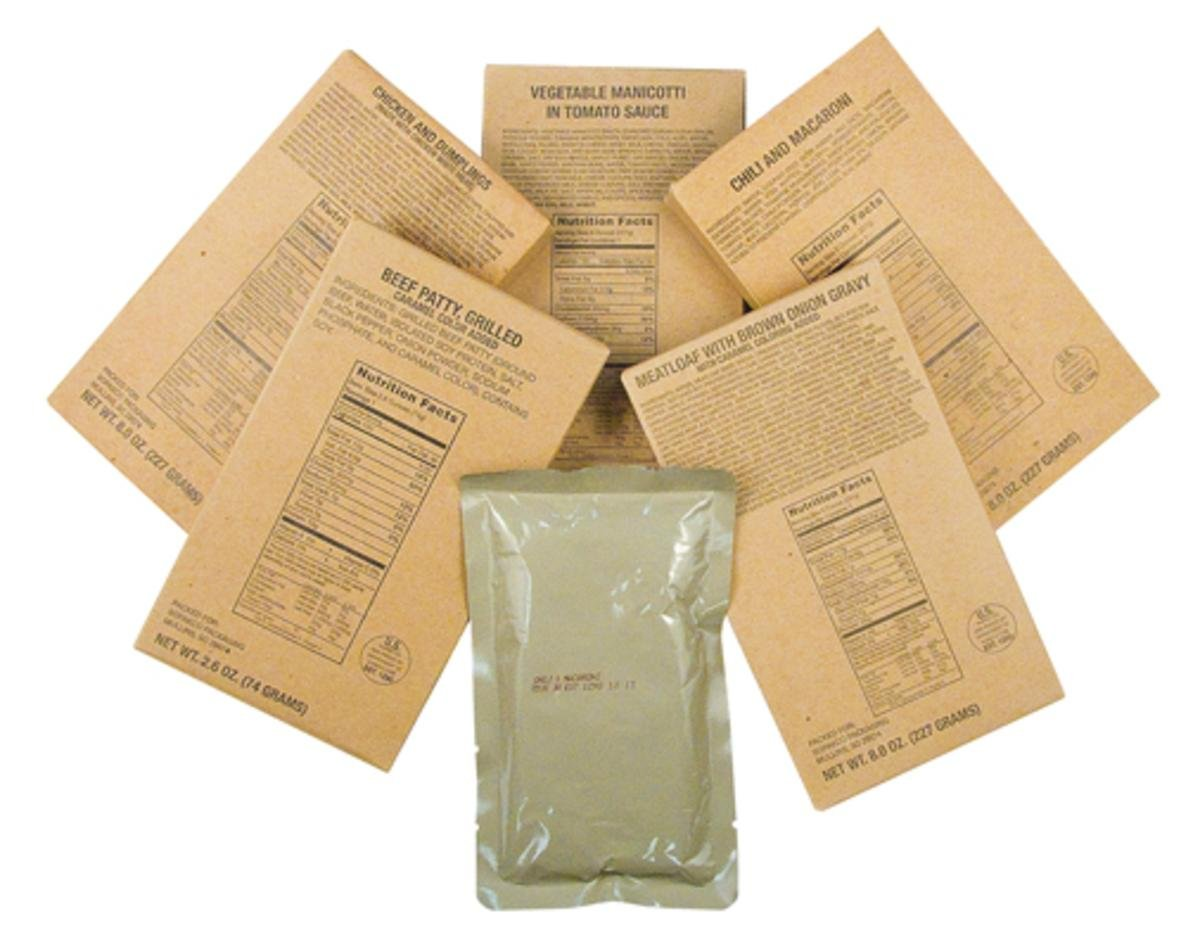 Captain Dave's 12 Military MRE Entrees,Meals Ready to Eat, MREs Case