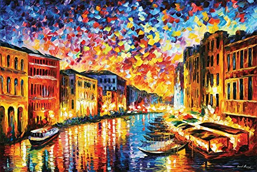 E Leonid Afremov - Venice Grand Canal Poster by Leonid Afremov 36 x 24in