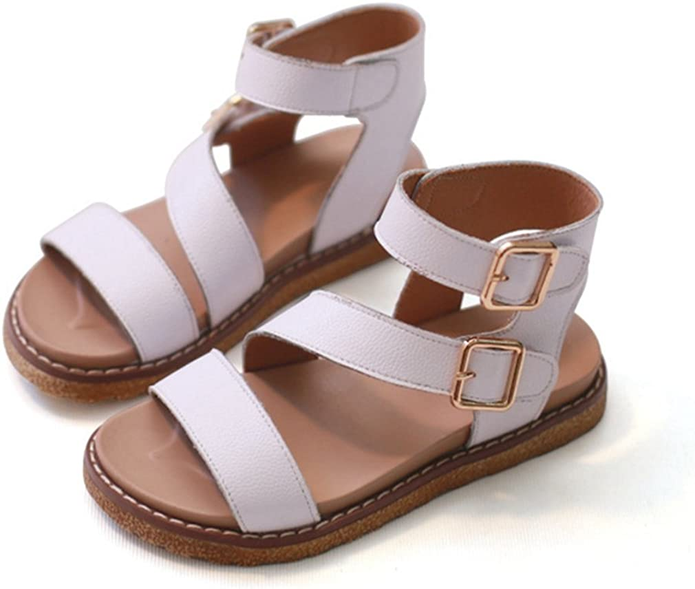 CYBLING Girls Soft Leather Open Toe Strap Sandals Casual Outdoor Summer Shoes Toddler//Little Kid