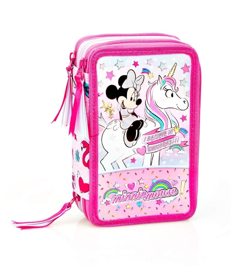 Licorne Trousse /à Crayons Trousse /Étui 44 Parties Pochette Inacio Disney Minnie Mouse XL Sac /à Crayons