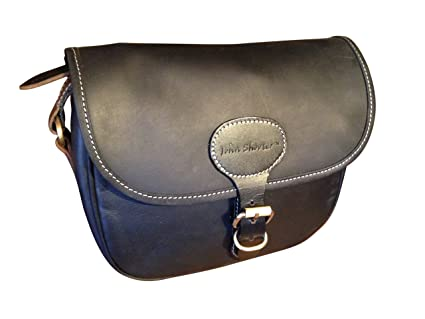 Amazon.com   John Shooter Thick Black Leather Shotgun Cartridge Bag ...