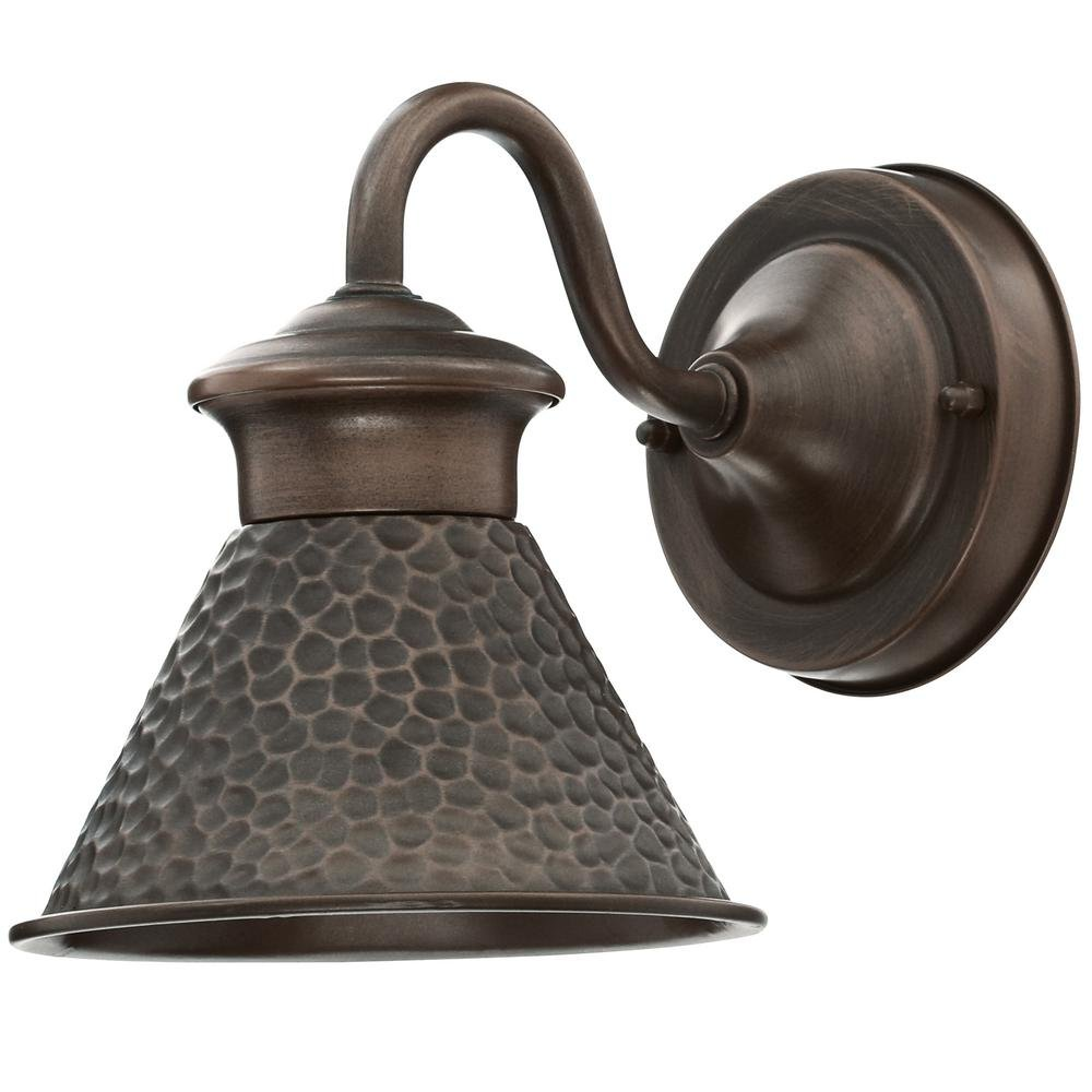 Home Decorators Collection Essen Outdoor Antique Copper 6 in. Wall Lantern