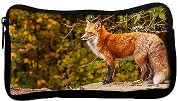 Red Zebra Fox - Estuche de mano para lápices, diseño de ...