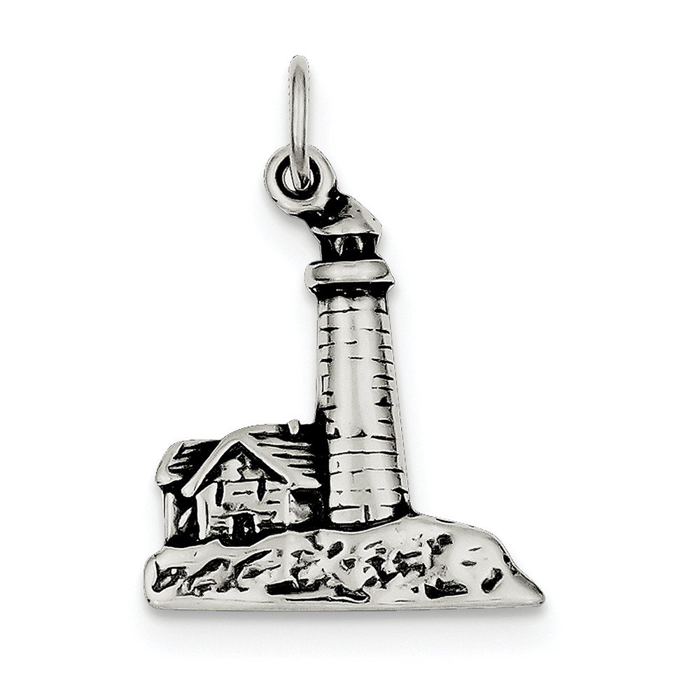Best Designer Jewelry Sterling Silver Antiqued Lighthouse Charm