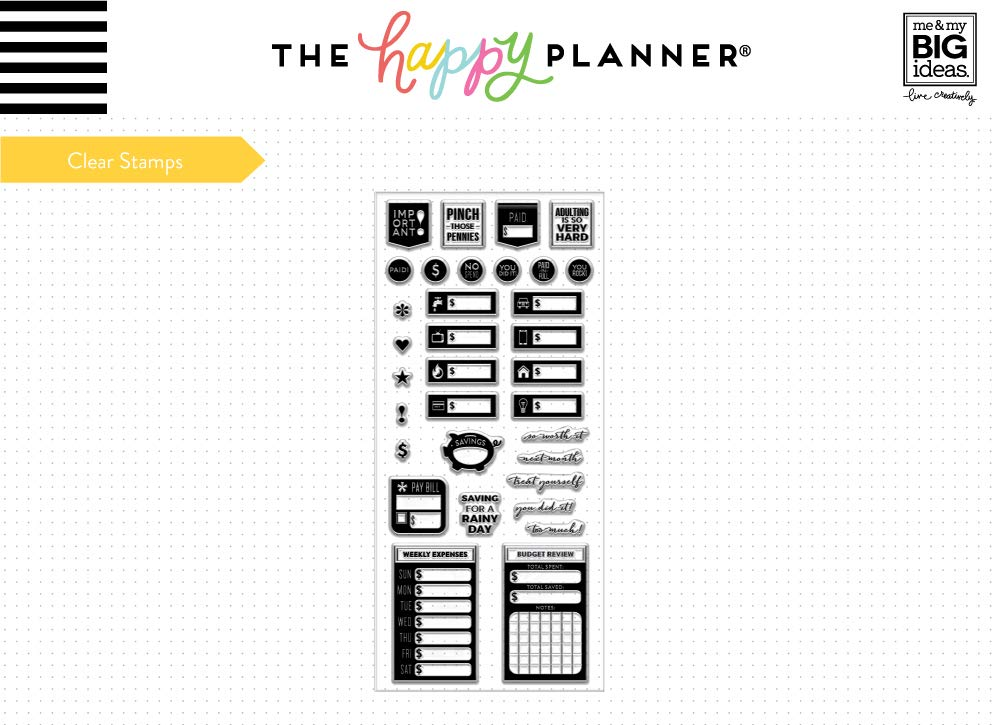 Budget Clear Stamps The Happy Planner