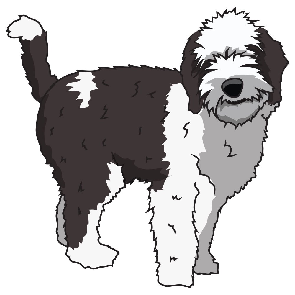 Sheepadoodle Decal Dorm Rooms SignMission Personalized Gift Offices 2 Pack of 6 Indoor//Outdoor Dog Lover Super Cute Sticker for SUV Windows Bedroom