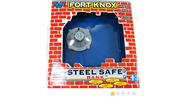 Amazon.com: Fort Knox Steel Safe Piggy Bank Vault! (BLUE, RED or PINK Bank): Toys & Games