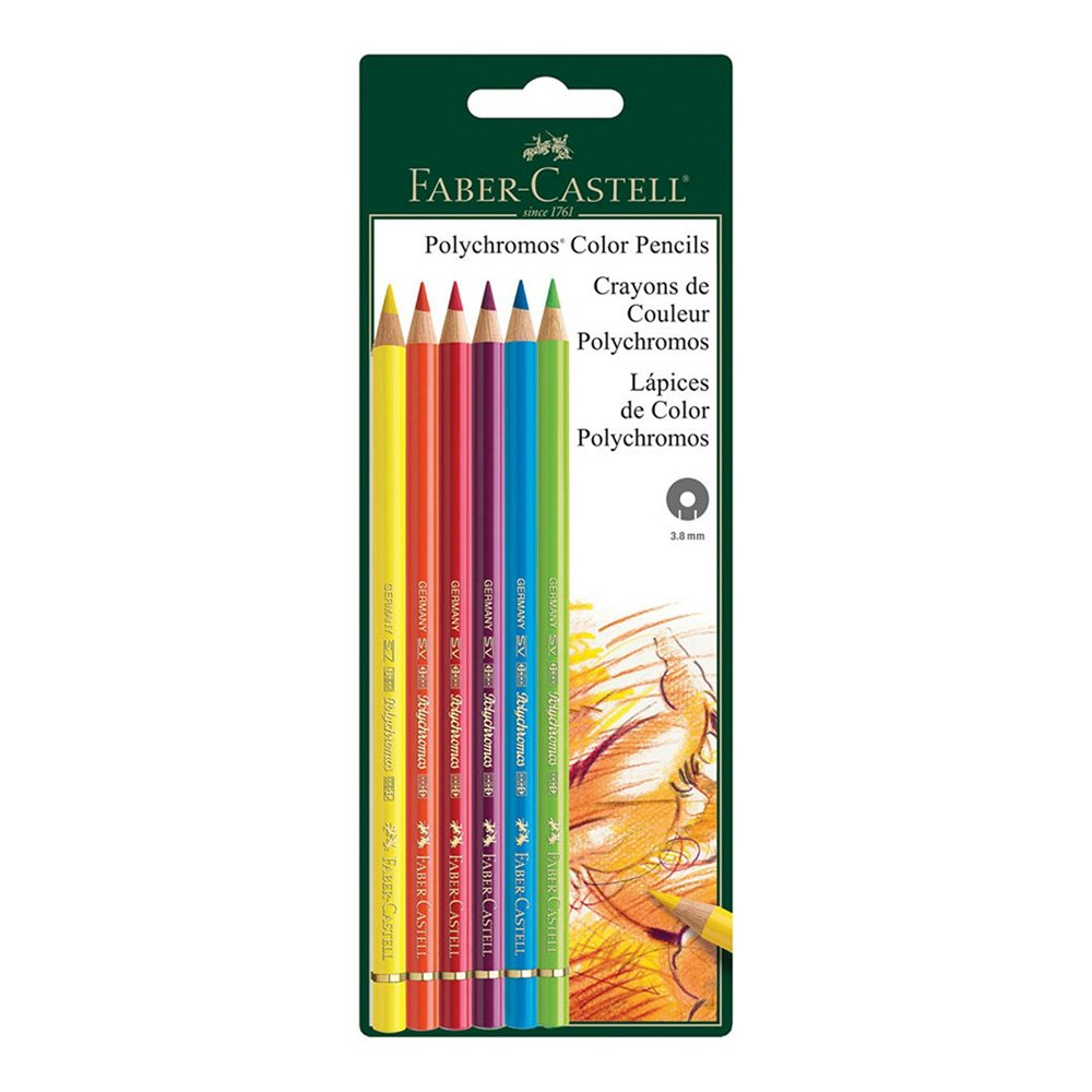 Polychromos 6 Ct BC Colored Pencils by Faber-Castell