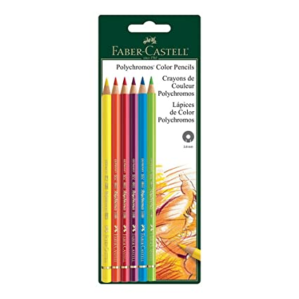 amazon com polychromos 6 ct bc colored pencils arts crafts sewing