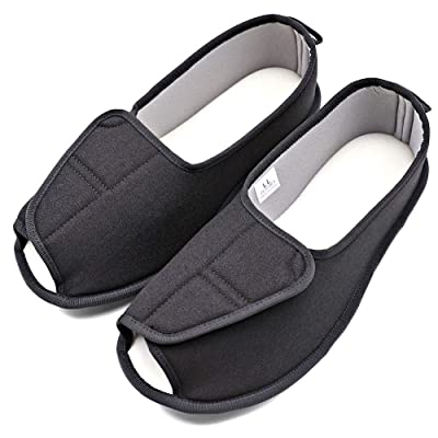 Women's Diabetic House Slippers Adjustable Strap Edema Indoor Sandal Lightweight Open Toe Shoes Relief for Swollen Feet Diabetes Mother Elderly Seniors | Slippers