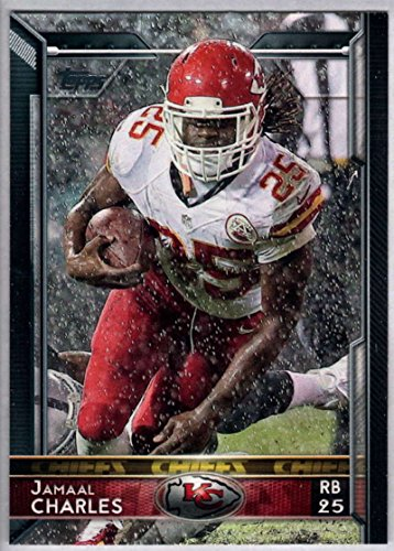 ff8b3c1e Amazon.com: Football NFL 2015 Topps #105 Jamaal Charles Chiefs ...
