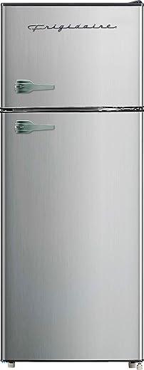 Frigidaire EFR751, 2 Door Apartment Size Refrigerator with Freezer, 7.2 cu ft, Platinum Series, Stainless steel, 7.5