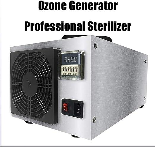 MOKY Generador de ozono, esterilizador Profesional, Limpiador Comercial purificador de Aire, Comfort Acero Inoxidable Ozonador Profesional Desodorante y Esterilizador - 50g: Amazon.es: Hogar
