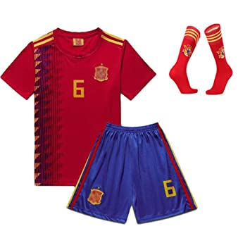 à bas prix prix de liquidation premier taux Jersey Costume Vêtement De Soccer pour Enfants Espagne ...