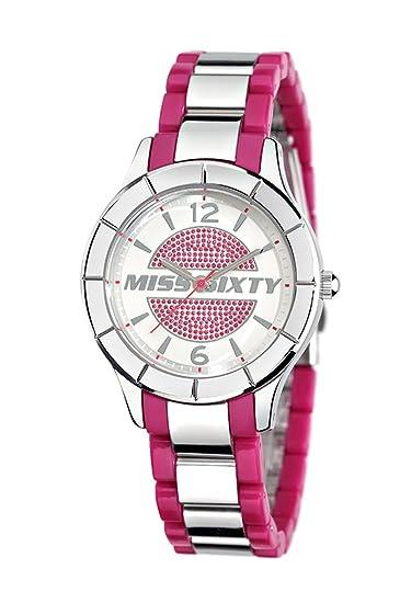 Miss Sixty SG8005 - Reloj analógico de Cuarzo para Mujer con Correa de Acero Inoxidable, Color Rosa: Amazon.es: Relojes