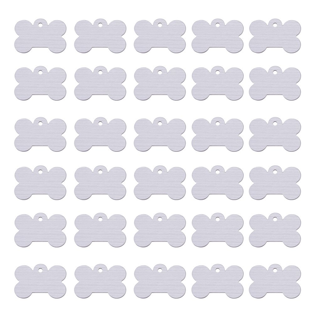 Round Shape BENECREAT 30 Pack Stamping Blanks Aluminum Blank Pendants for Bracelet Earring Pendant Charms Dog Tags 0.98x0.86