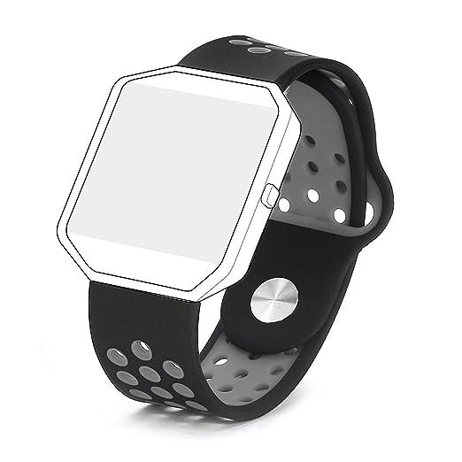 4 opinioni per Bepack Fitbit Blaze Cinturino, Gel di Silice Morbido Silicone Wristband